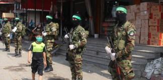 Mitglieder der Terrororganisation Hamas in Nuseirat im Gazastreifen. Gaza, 10. September 2020. Foto Majdi Fathi/TPS