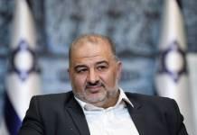 Der israelisch-arabische Politiker und Vorsitzende der Vereinigten Arabischen Liste, Mansour Abbas. Foto IMAGO / UPI Photo