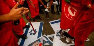 Demonstration der Volksfront für die Befreiung Palästinas PFLP im Stadtteil Sheikh Radwan in Gaza-Stadt. Foto IMAGO / Pacific Press Agency