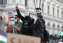 Protest vor der Downing Street in London. Foto IMAGO / ZUMA Wire