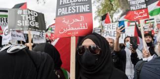 Palästinenser-Demonstration am 11. Mai 2021 in London. Foto IMAGO / NurPhoto