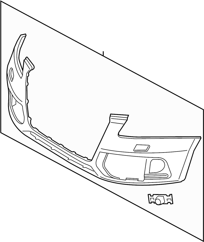 Audi Q5 Bumper Cover Center Cover Retainer Plate