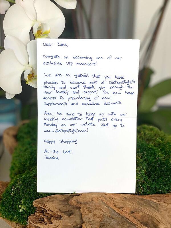Handwritten Note Example