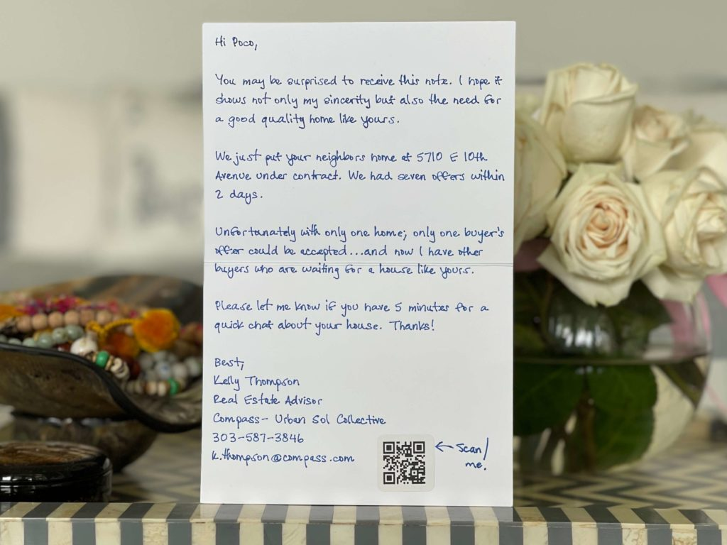 Handwritten Note About Us