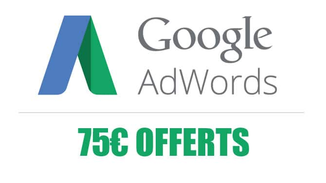 Obtenir code promo Google Adwords de 75e, Code promo Google Adwords, Audience Agency, Création site internet, référencent naturel, campagne google adwords