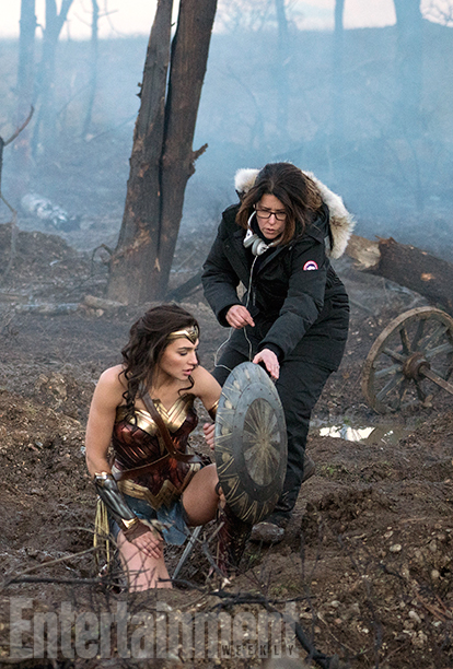 Wonder Woman (2017) Gal Gadot and Director Patty Jenkins