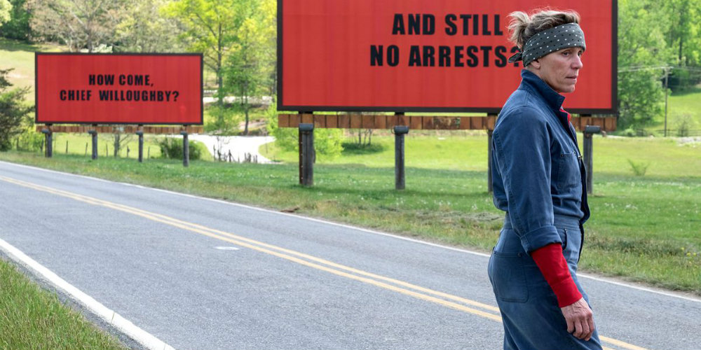 Three Billboards Outside Ebbing, Missouri Gives Fate the Middle Finger