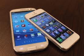 iPhone  5 y Samsung Galaxy S3
