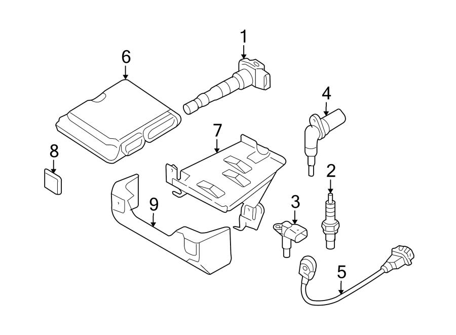 Audi A3 Engine Control Module. 2.0 LITER, GAS, w/o AWD. A3