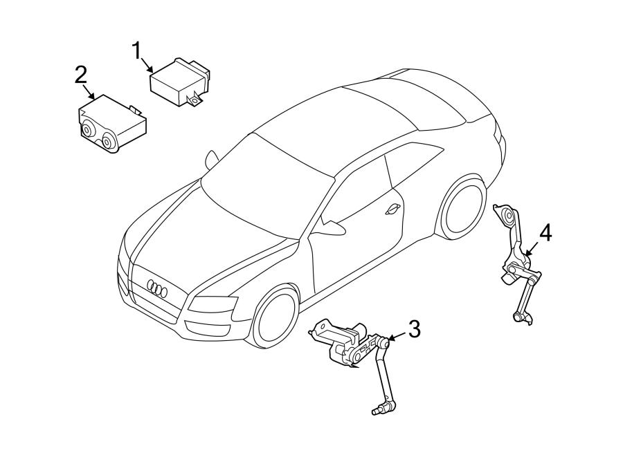 Audi Q5 Headlight Level Sensor. CONTROL, HEADLAMP, Rear