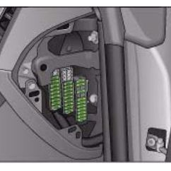 Audi A4 Airbag Wiring Diagram Lt155 B8 2007 To 2015 Fuses List And Amperage Fuse Box Left Hand