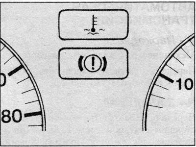 Контрольные лампы (Ауди 100 С3, 1982-1990, дизель