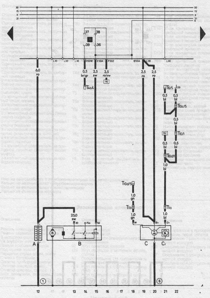 Аккумулятор, стартер и генератор (Ауди 100 С3, 1982-1990