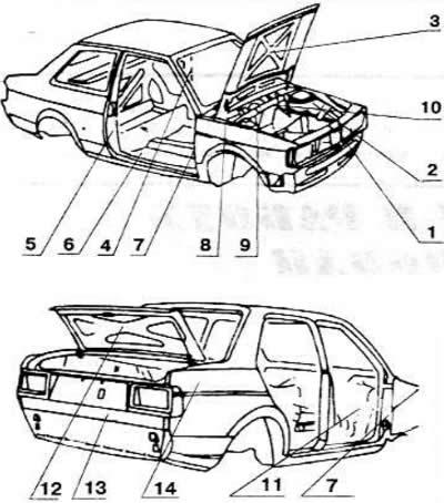 Идентификация автомобиля (Ауди 100 С4, 1990-1994