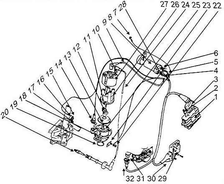 Устройство системы зажигания (Ауди 100 С4, 1990-1994