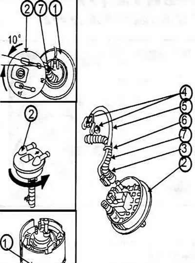 Топливная система (бензин) автомобиля Ауди 100