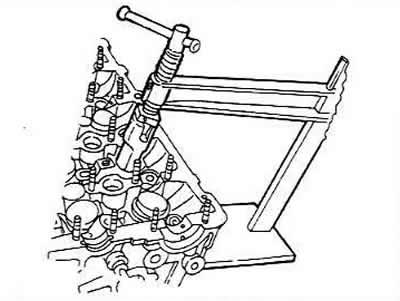 Ремонт головки блока цилиндров с пятью или четырьмя