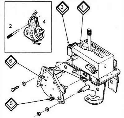Регулировка выключателя системы (Ауди 100 С4, 1990-1994