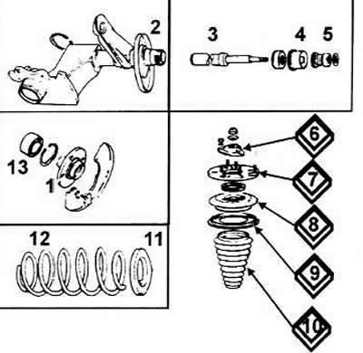 Замена переднего амортизатора (Ауди 100 С4, 1990-1994