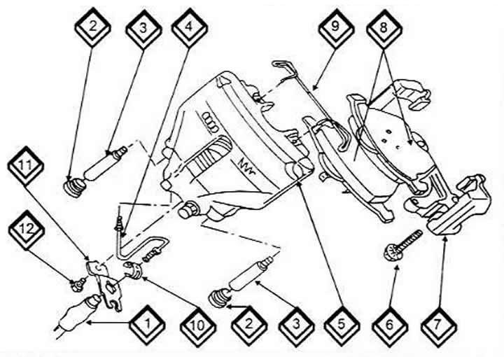 Дисковые тормоза передних колес (Ауди 100 С4, 1990-1994
