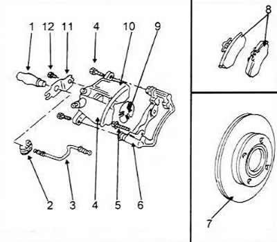 Ремонт тормозных суппортов передних колес (Ауди 100 С4
