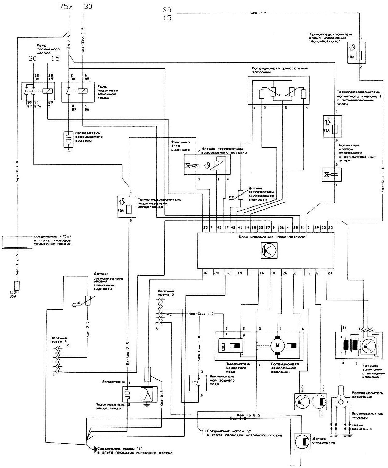 Блок управления для системы «Mono-Motronic» (Ауди 100 С4