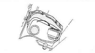 Снятие и установка двигателя для регулировки угла наклона