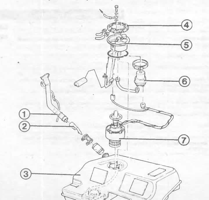 Система питания автомобиля Ауди 100, модификация С4 (1990