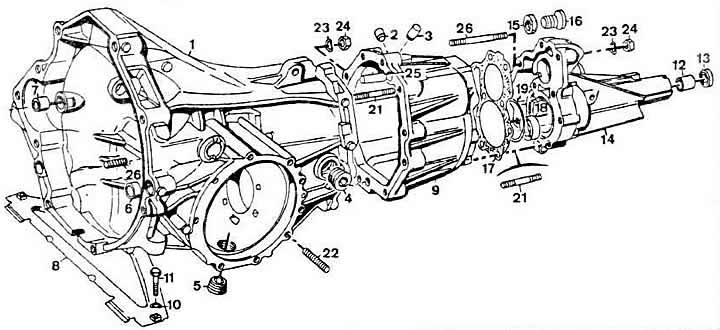 4-ступенчатая коробка автомобиля Ауди 80, модификация Б2