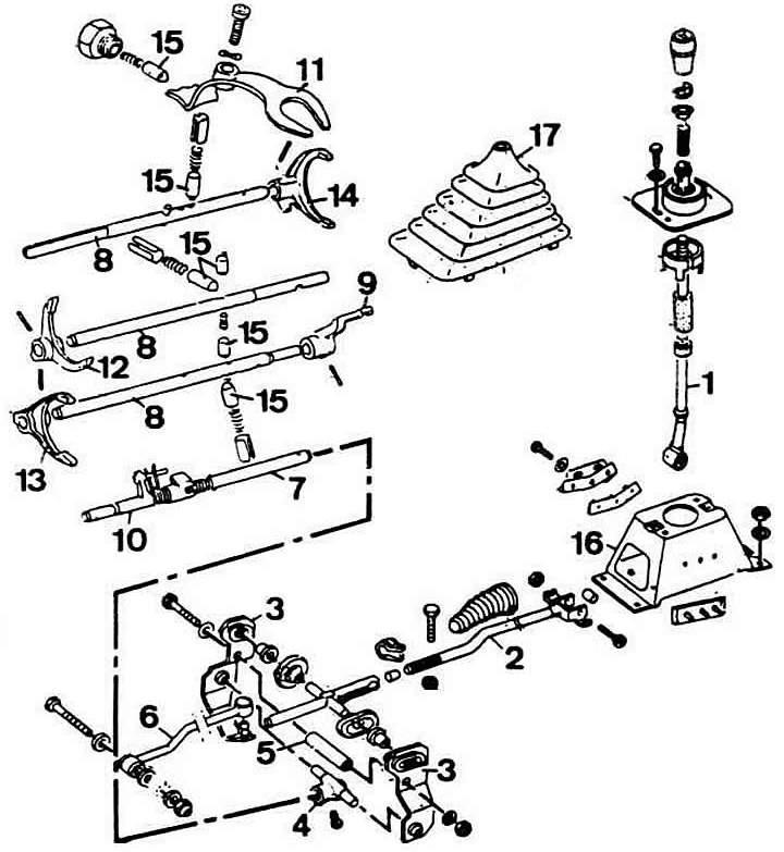 Механизм управления переключением передач (Ауди 80 Б2