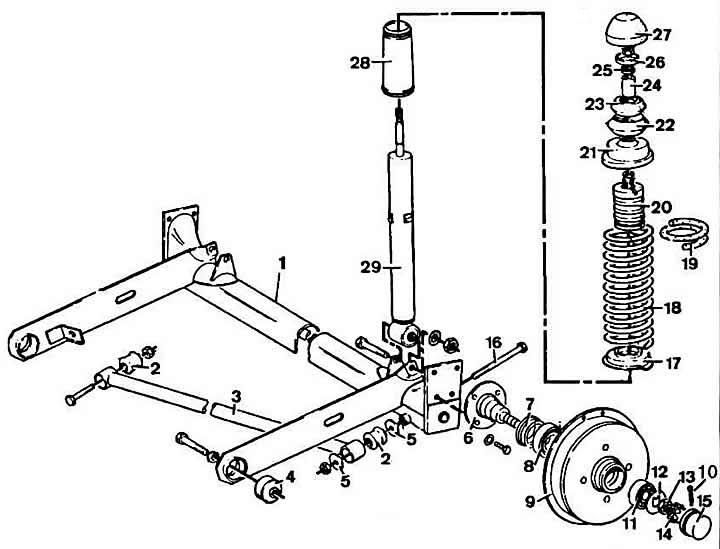 Снятие, разборка, сборка и установка ступиц задних колес