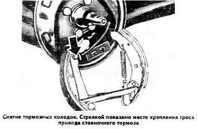 Замена тормозных колодок задних колес (Ауди 80 Б2, 1979