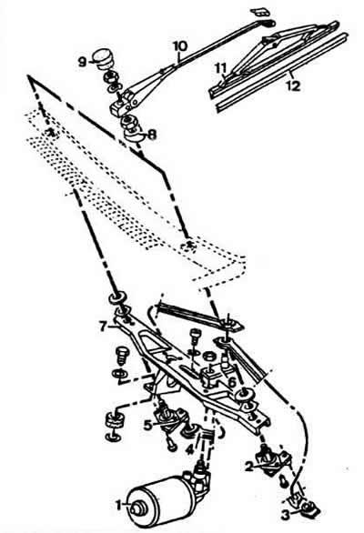 Очиститель ветрового стекла (Ауди 80 Б2, 1979-1986