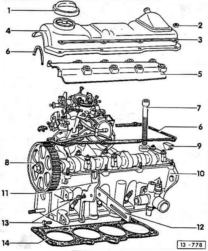 Головка цилиндров (Ауди 80 Б3, 1986-1991, Бензиновый