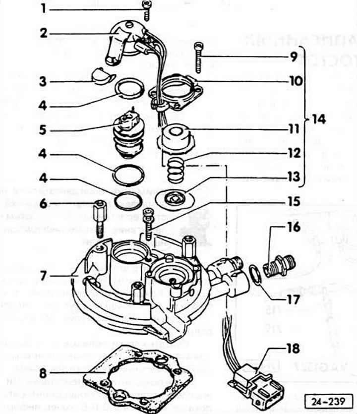 Система впрыска (бензин) автомобиля Ауди 80, модификация