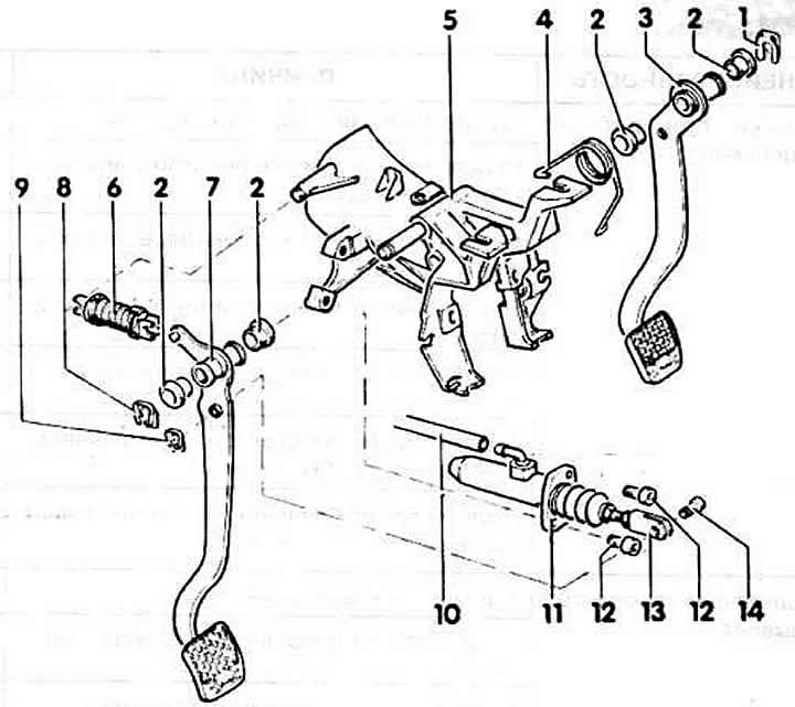 Привод сцепления (Ауди 80 Б3, 1986-1991, Сцепление и