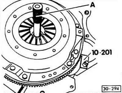 Снятие, установка, проверка сцепления (Ауди 80 Б3, 1986
