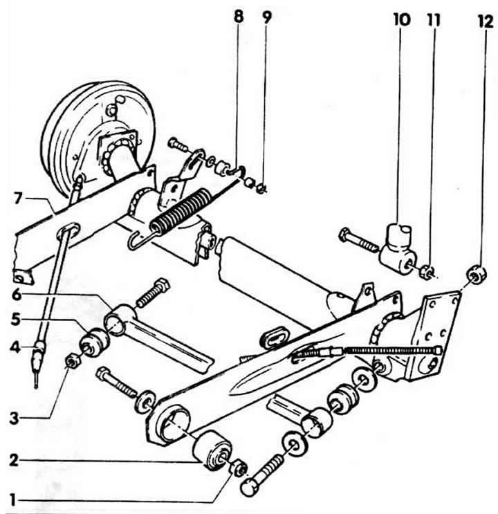 Устройство задней подвески (Ауди 80 Б3, 1986-1991