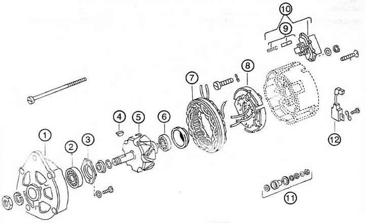 Генератор (Ауди 80 Б3, 1986-1991, Силовые устройства)