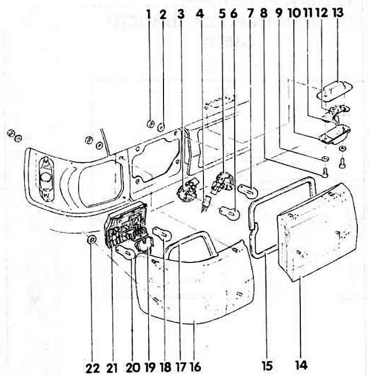 Задние фонари (Ауди 80 Б3, 1986-1991, Освещение и приборы)