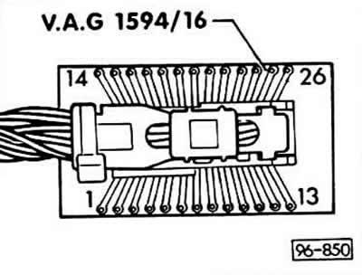 Проверка датчика спидометра (Ауди 80 Б3, 1986-1991