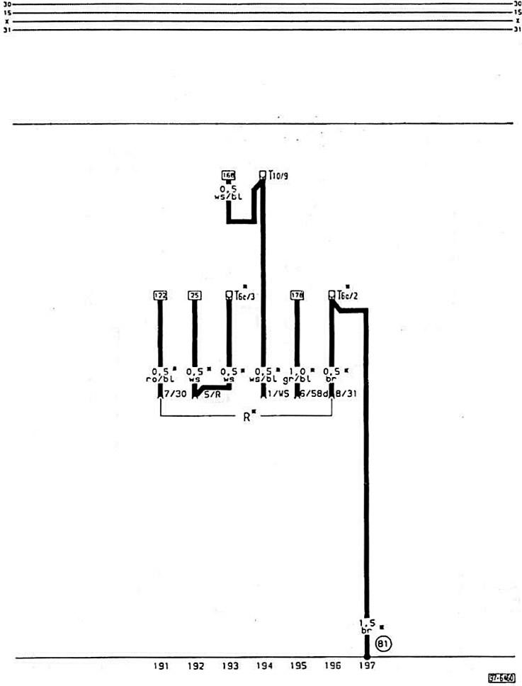 Электрическая схема радиоприемника (Ауди 80 Б3, 1986-1991