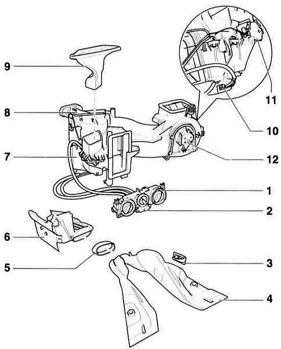 Вентиляция и отопление автомобиля Ауди А3, модификация Typ