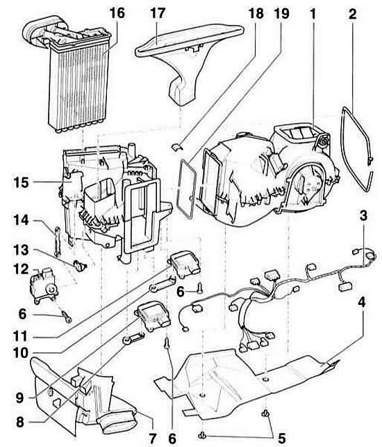 Устройство кондиционера (Ауди А3 Typ 8L, 1996-2003