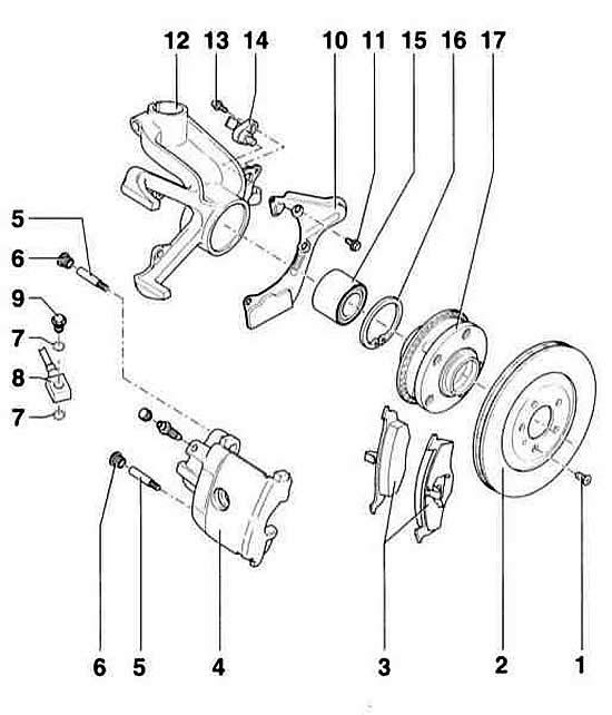 Замена передних тормозных колодок (Ауди А3 Typ 8L, 1996