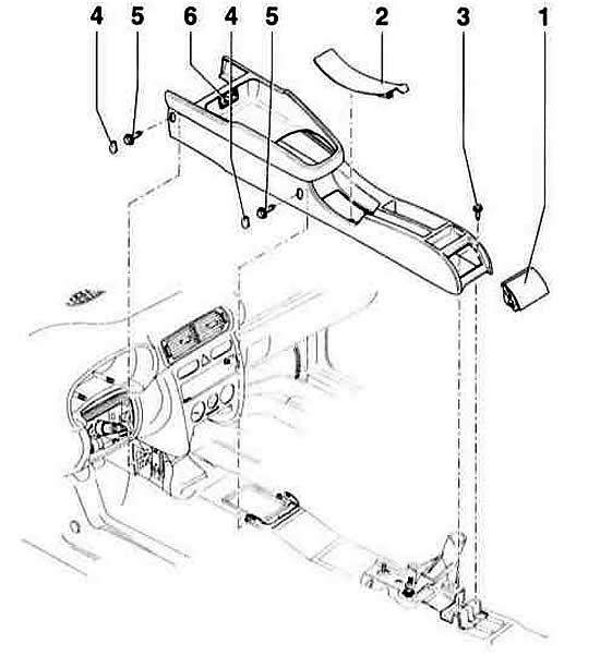 Снятие и установка нижней центральной консоли (Ауди А3 Typ