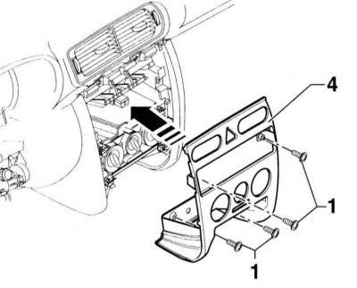 Снятие и установка центральной консоли (Ауди А3 Typ 8L