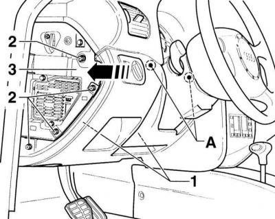 Снятие и установка кармана со стороны водителя (Ауди А3