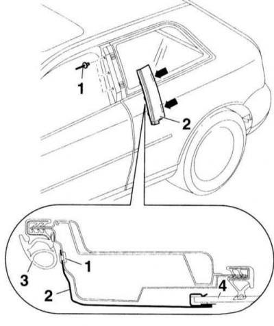 Снятие и установка накладки стойки В (Ауди А3 Typ 8L, 1996