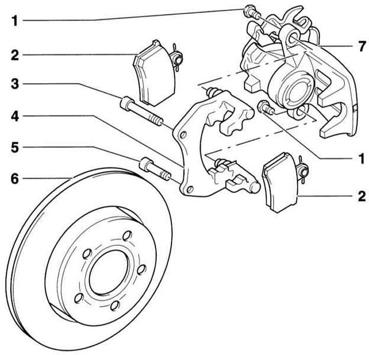 Снятие и установка колодок тормозных механизмов задних